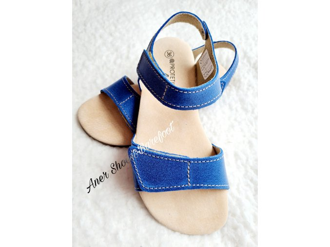 Protetika sandaly Belita modra barefoot