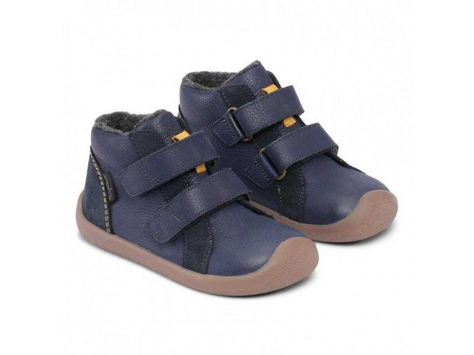 walker mid velcro ii bundgaard barefoot navy 2