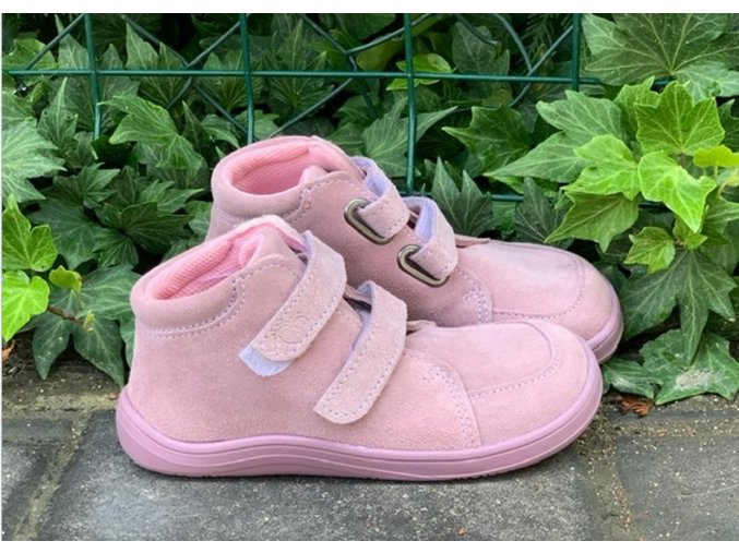 baby bare shoes barefoot fall pink