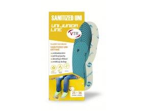Vložky do bot SANITIZED UNI dětské - ostřihávací