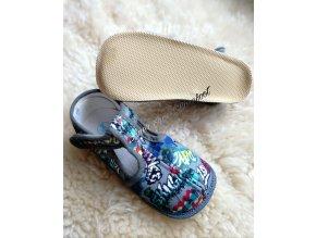 Beda barefoot papuče užší Grafitti