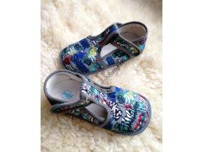 Beda barefoot papuče užší Grafitti 2