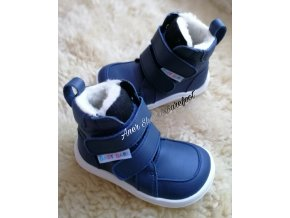 Baby Bare Shoes Winter navy 1