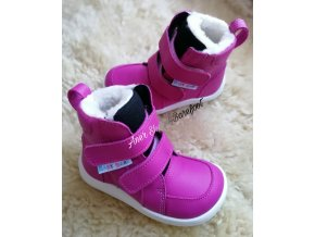 Baby Bare Shoes Winter fuschsia 1