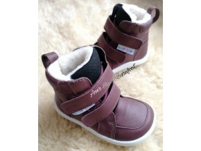 baby bare shoes winter bordo 1