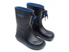 bundgaard holiny classic rubber boots lace navy 2