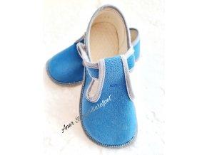 Beda papucky prezuvky barefoot modra