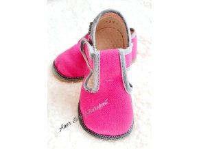 Beda barefoot papučky malina