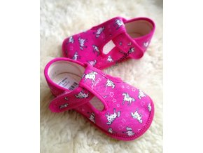 Beda barefoot papuce ruzovy konik 1