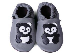 capáčky panda na šedé