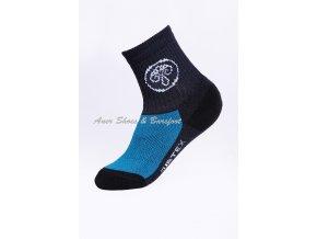 Surtex ponožky 80% Aerobic Merino dětské - modrocerne