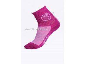 Surtex ponožky 80% Aerobic Merino dětské - růžové