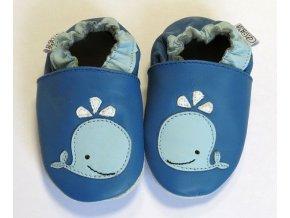 capiki kožené capáčky velrybka modrá