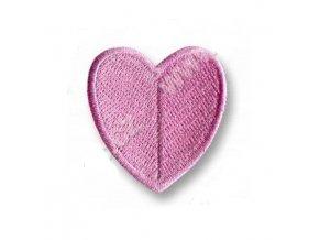 nažehlovací aplikace srdce baby pink