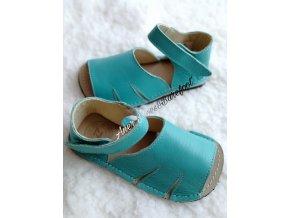 Zeazoo barefoot sandálky Shell tyrkys