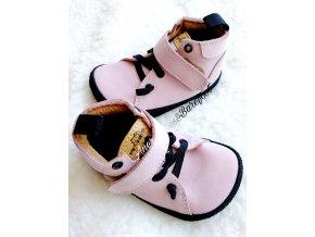 Pegres barefoot celorocni boty pink