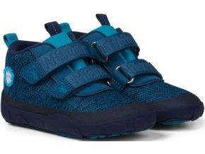 Affenzahn Minimal Lowboot Knit Bear Blue Sappore