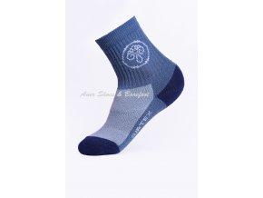 Surtex ponožky 80% Aerobic Merino dětské - modrošedá