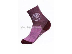 Surtex ponožky 80% Aerobic Merino dětské - fialovorůžové