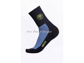 Surtex ponožky 80% Aerobic Merino dospělé - modrá/černá