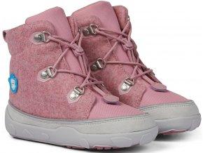 Affenzahn barefoot Minimal Midboot Wool Lace Unicorn Pink