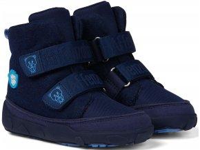 Affenzahn barefoot Minimal Midboot Wool Bear Blue