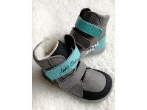 Baby Bare Shoes Winter Grey Asfaltico