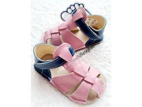 Zeazoo Goby barefoot pink navy