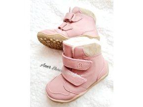 Blife style barefoot zimní obuv GIBBON TEX WOOL BIO rose