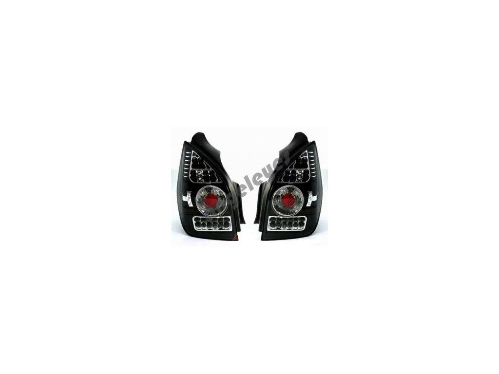 Zadné LED svetlá pre Citroen C2 čierne