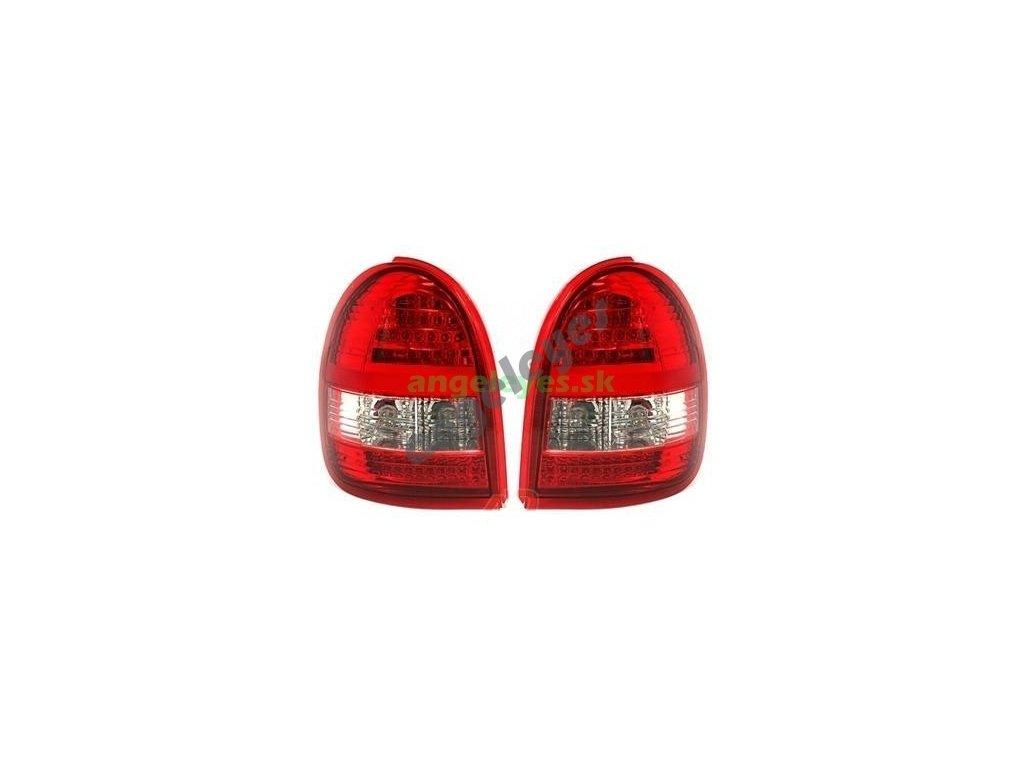 Opel Corsa B zadné LED svetlá červeno-biele