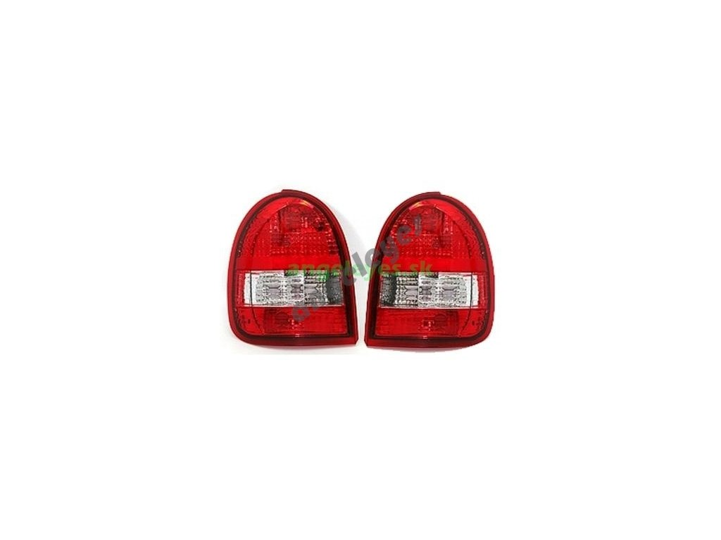 Corsa B zadné červeno biele