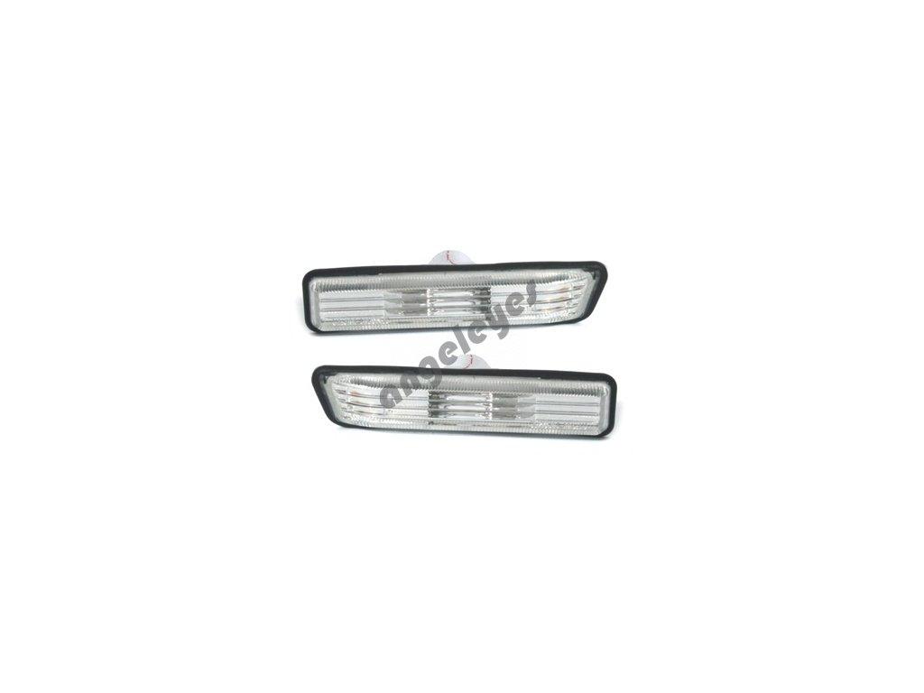 Bočné smerovky strieborné pre BMW E36, X5