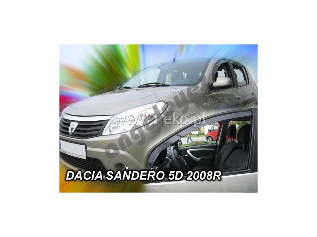 Deflektory na okná pre Dacia Sandero/Stepway, 2ks