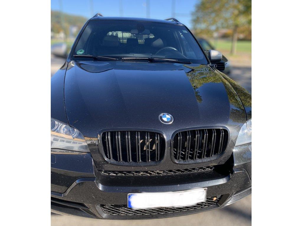 BMW X5 E70, X6 E71 športová čierna maska s dvojitými...