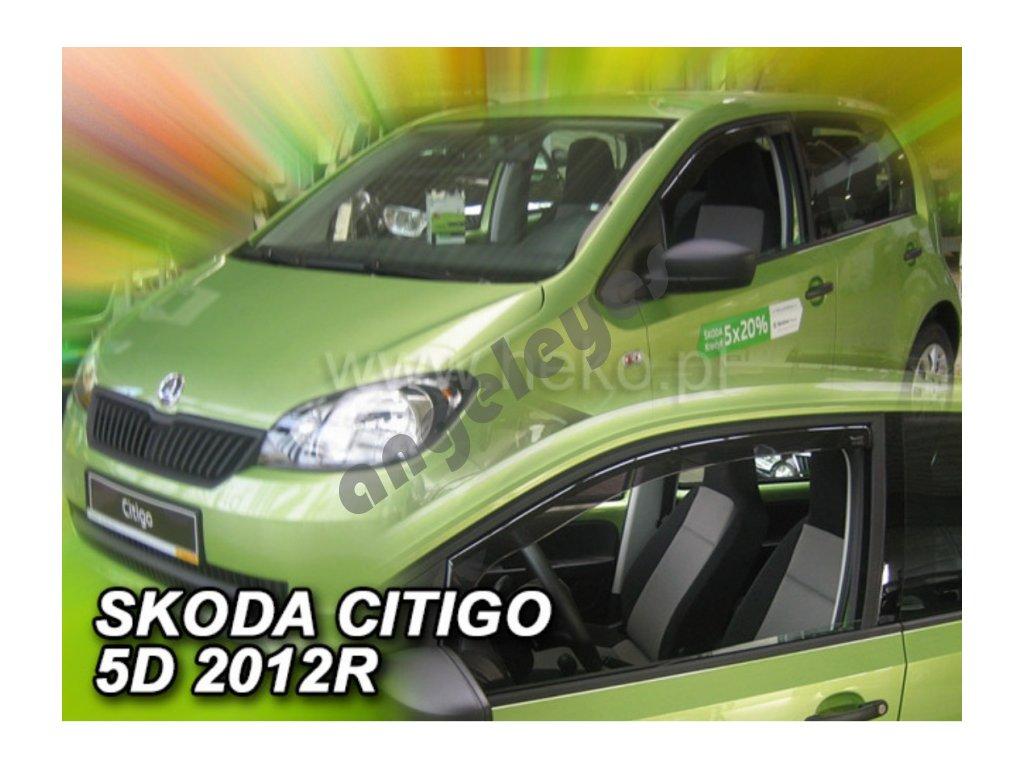 Deflektory na okná pre Škoda Citigo, VW Up, 2ks