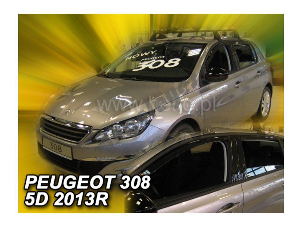 Deflektory na okná pre Peugeot 308, 4ks