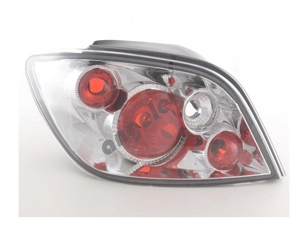 Peugeot 307 zadné chrómové svetlá