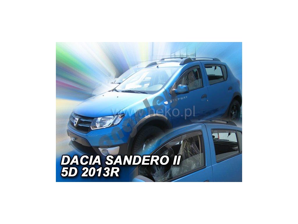 Deflektory na okná pre Dacia Sandero II / Stepway II 5D, rv....