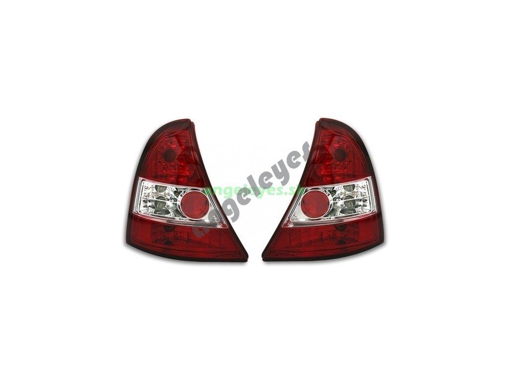 Clio 01-05 zadné červeno-biele svetlá