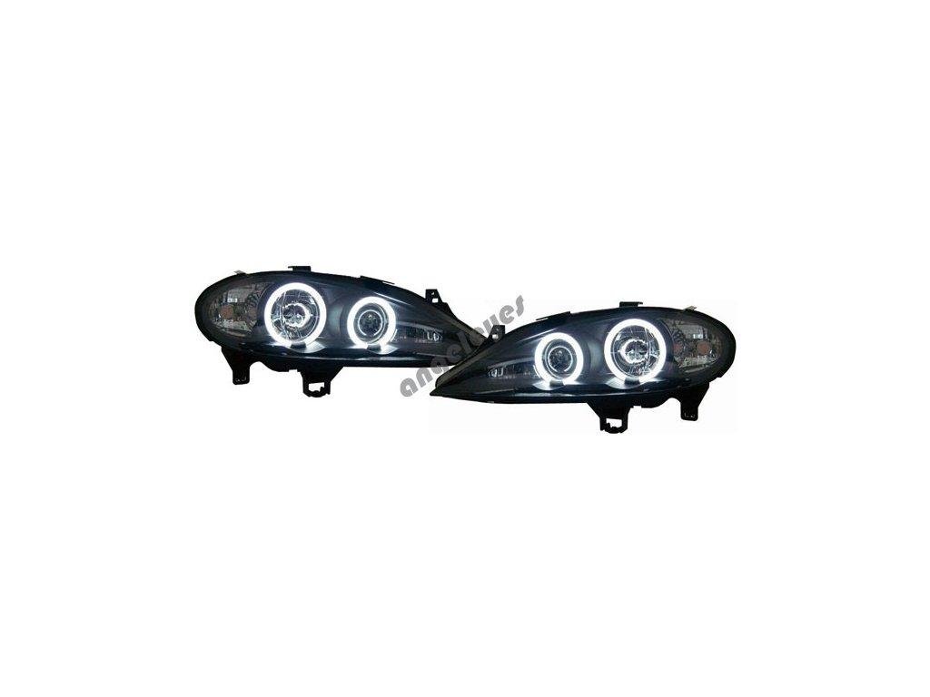 Predné svetlá so silnými krúžkami Renault Megan 1999-2002