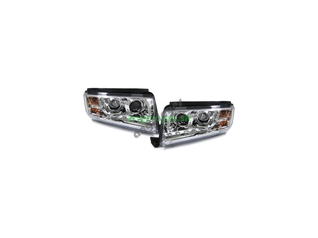 Škoda Fábia predné chrómové svetlá s LED pásom, rv. 99-07