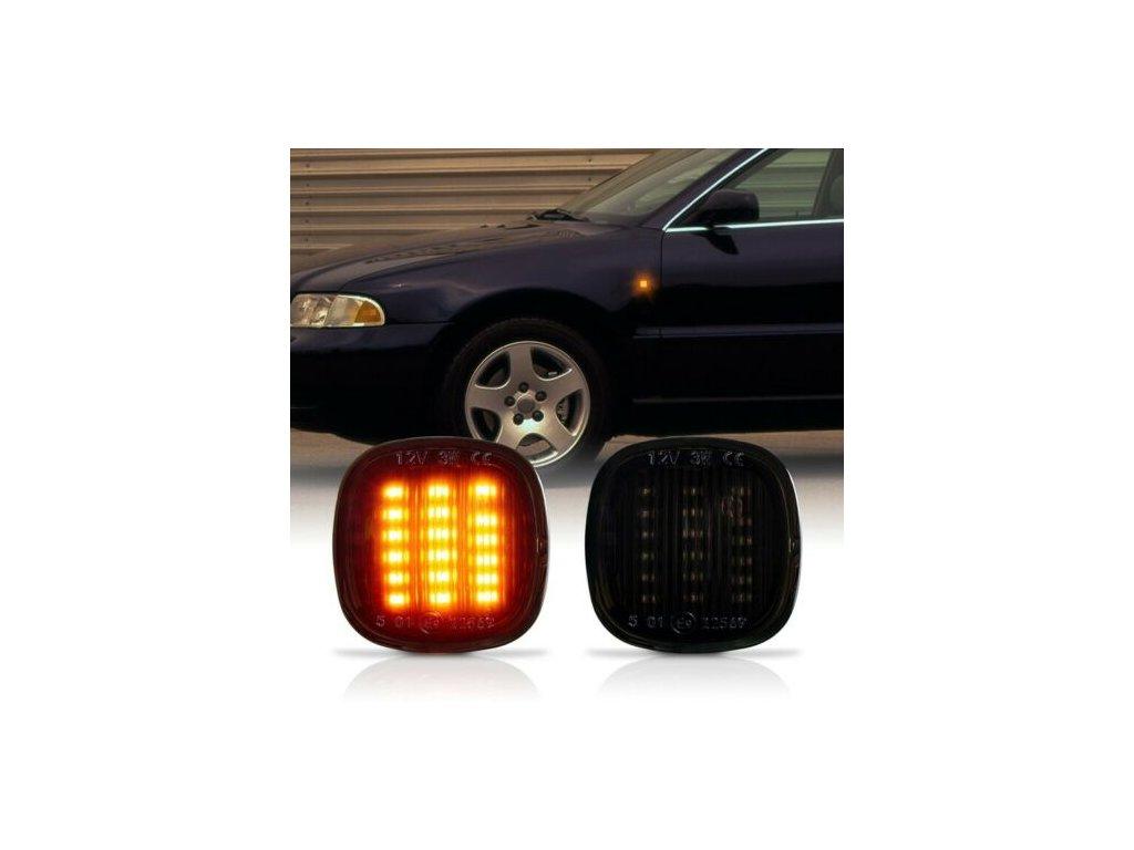 Bočné LED smerovky zatmavené Audi, Škoda, Seat