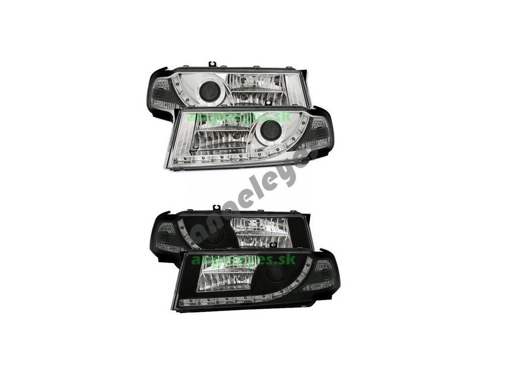 Škoda Octavia svetlá s LED pásom Devil Eyes 9/00-05