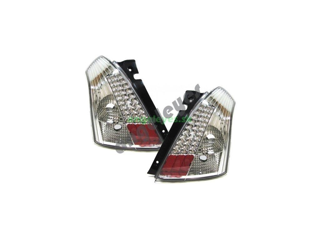 Suzuki Swift zadné LED chrómové svetlá, rv. 05-10