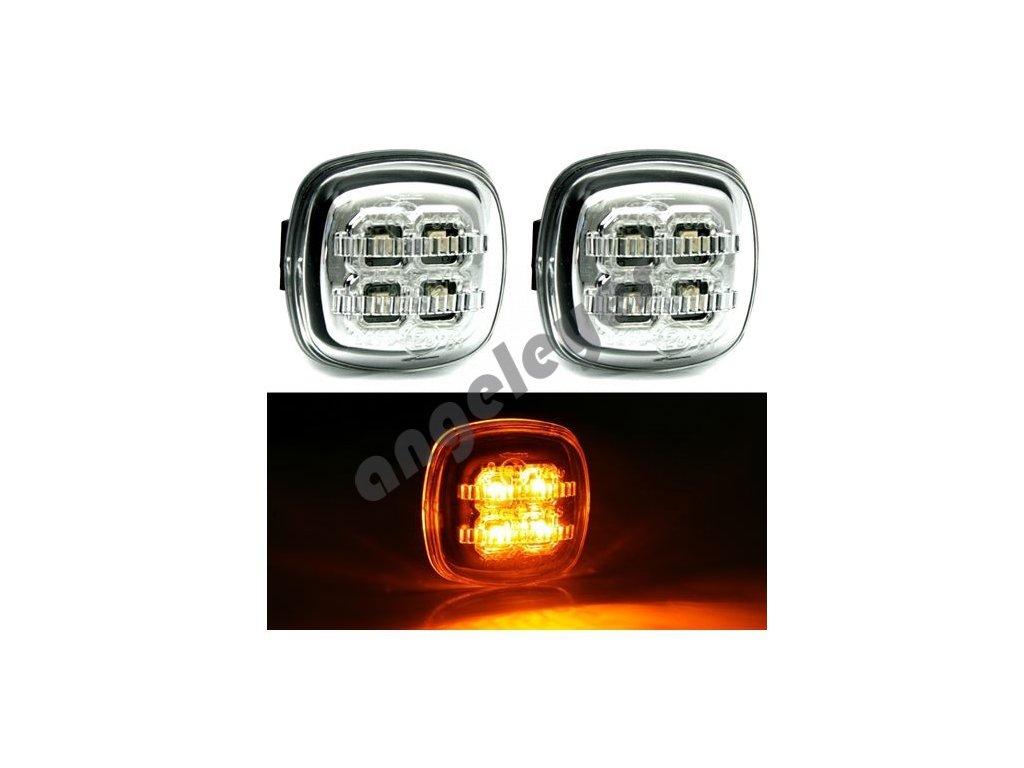 Škoda Octavia bočné chrómové LED smerovky