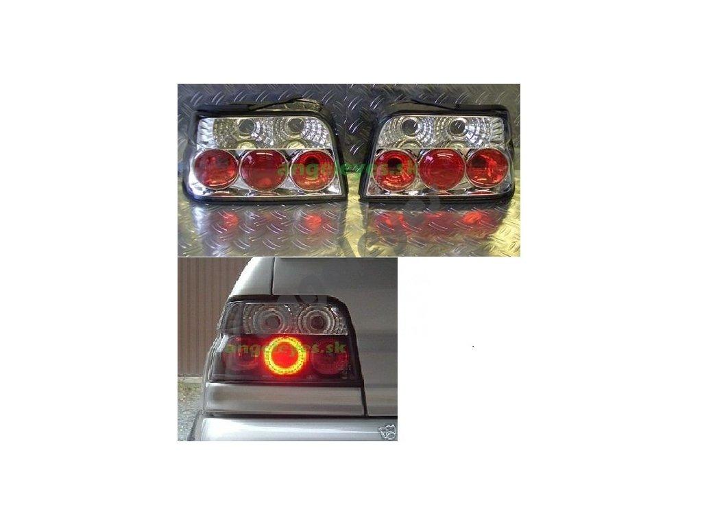 Ford Escort zadné chrómové svetlá 90-92