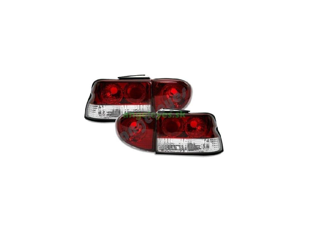 Ford Escort zadné svetlá červeno-biele