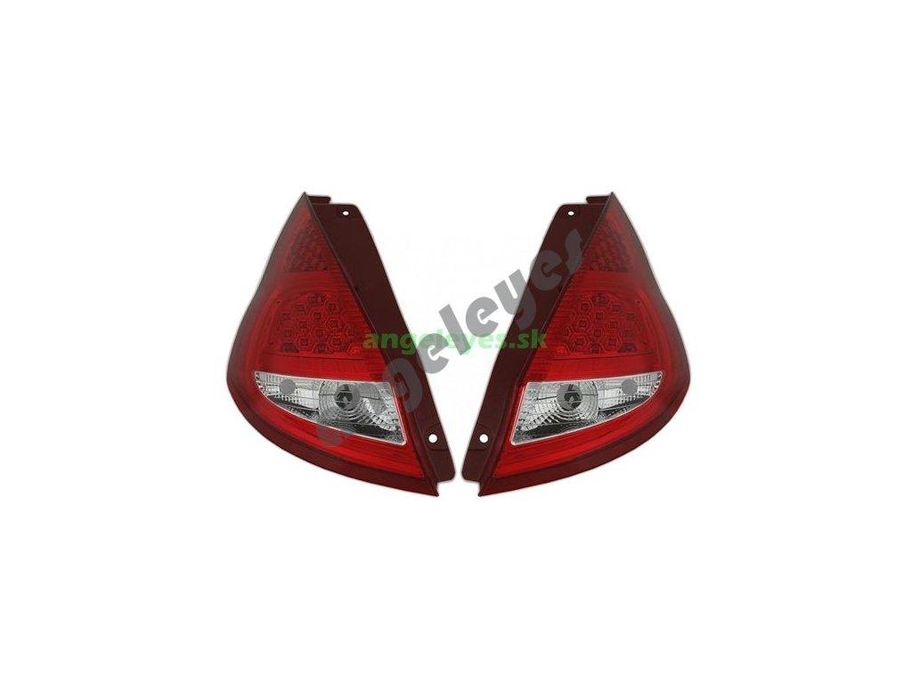 Ford Fiesta zadné číre LED svetlá červeno-biele