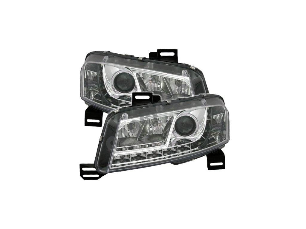 Fiat Stilo predné svetlá chrómové s LED pásom, 3 dv.